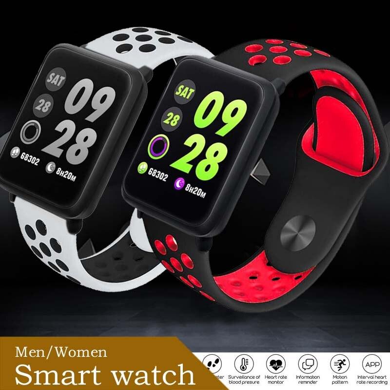 Watch Women Blood-Pressure-Pedometer Fitness-Heart-Rate Bluetooth Waterproof Wristban