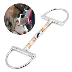 Нержавеющая сталь лошадь рот бит конский рот кусок Конный снафл двойной соединенный бит конский инвентарь для бега из нержавеющей стали