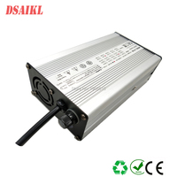 Aluminum case with cool fan 84V 2a Ebike lithium battery pack charger for 20S 72V escooter battery pack