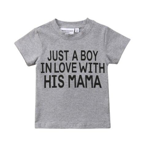 ילדים חדשים תינוקת ילד קצר שרוול חולצות חולצה חולצה טי בגדי קיץ 1-6Y