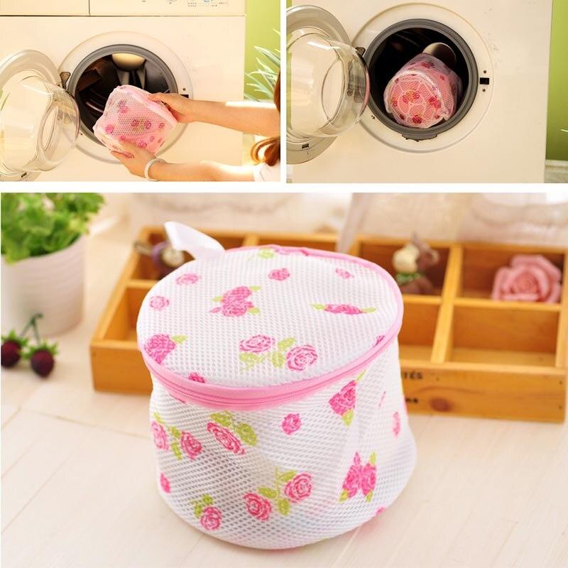 Floral Laundry Saver Washing Bra Underwear Lingerie Mesh Wash Basket Bag Home Supplies Package New Lingerie Underwear
