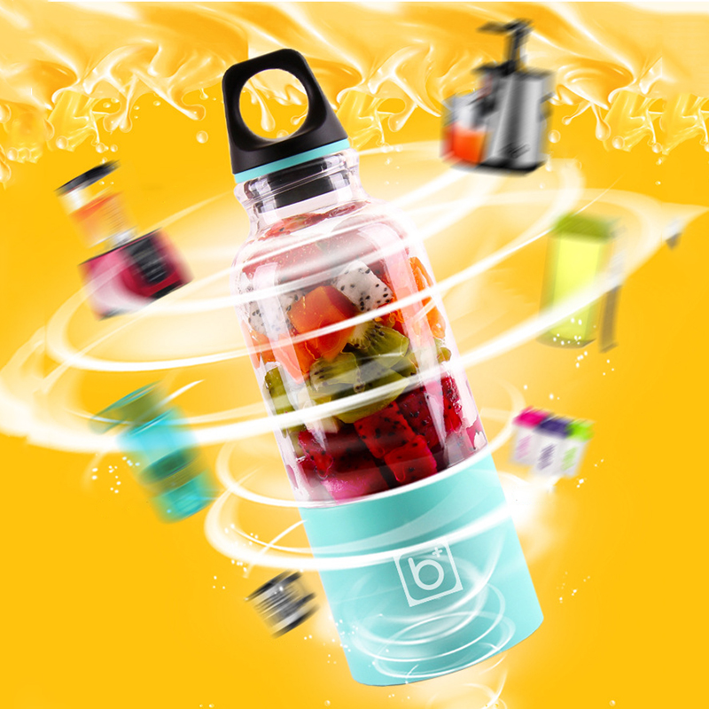 New 500ml font b Portable b font Juicer Cup USB Rechargeable Electric Automatic Bingo Vegetables Fruit