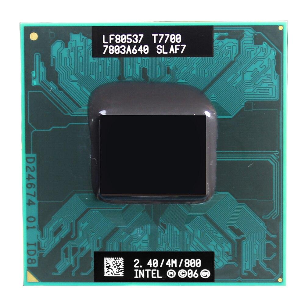 Intel Core Duo 2 T7700 CPU 4 2.4 M Cache 800 GHz Dual-Core cpu notebook Laptop processador