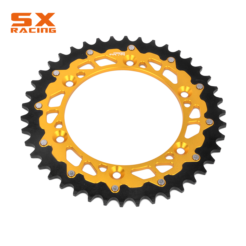 Motorcycle 44T 48T 49T 51T 52T Steel Engine Part Rear Sprocket Chain For SUZUKI DRZ DR RM RMZ RMX 125 250 350 400 450 Motocross