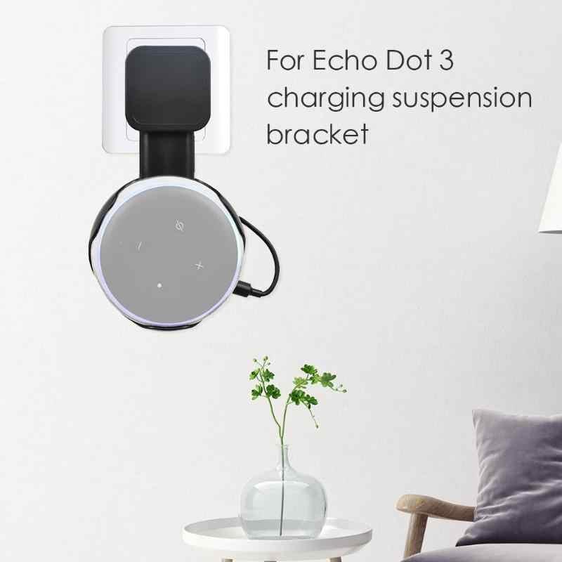 Uchwyt do montażu ściennego wieszak uchwyt na Braceket skrzynka dla Amazon Echo Dot 3 głośnik kompaktowy uchwyt obudowa wtyczki w kuchni łazienka sypialnia