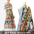 146 см широкая ткань с принтом Весна и лето новое платье в клетку одежда оптовая продажа Высококачественная цифровая печать полиэфирная ткан...