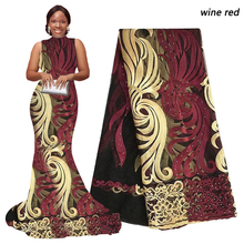 Wine Latest Nigerian Net Laces Gold Royal Blue High Quality African French Lace Embroidery Stones African Lace Fabric Pink