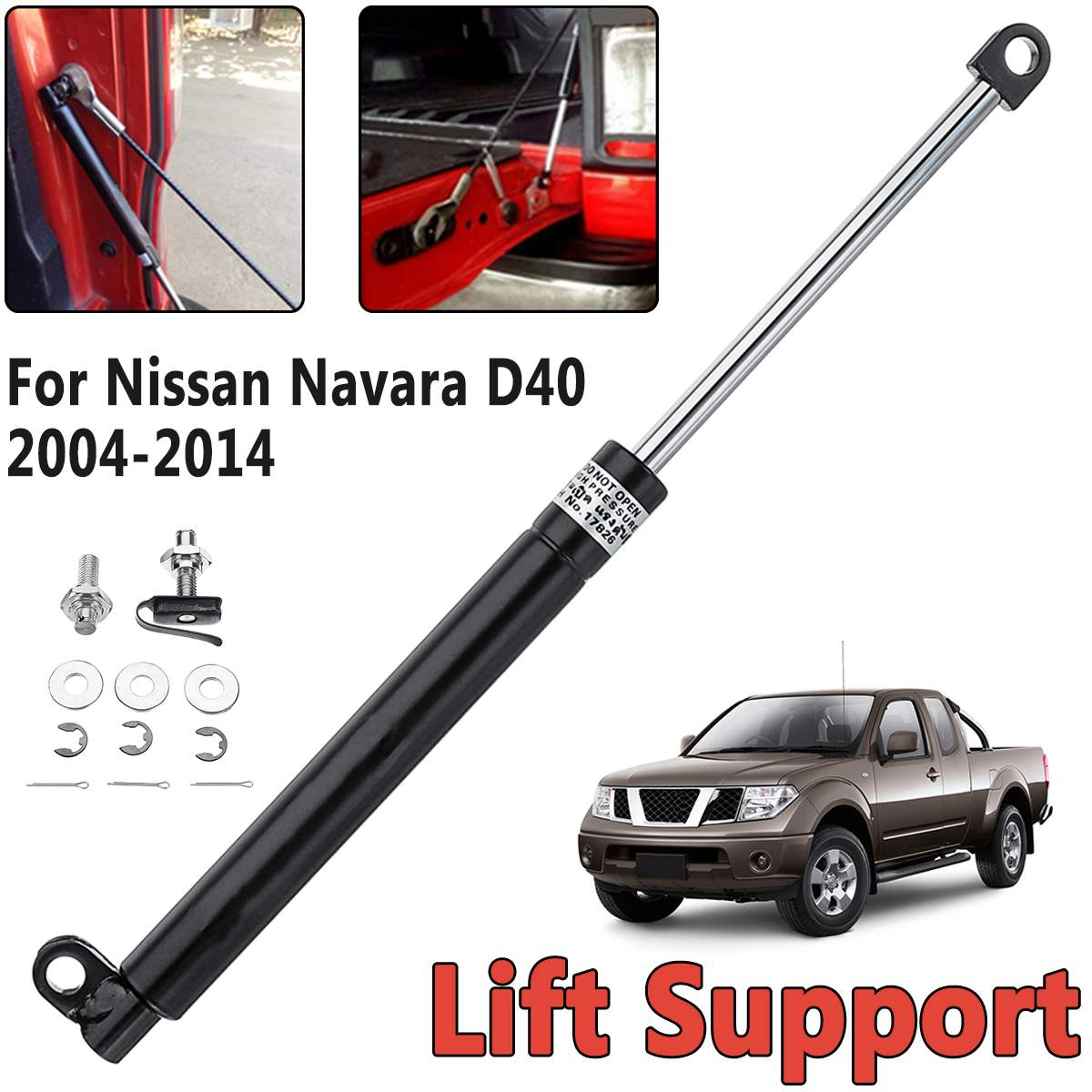 Rear Liftgate Tailgate Slow Down Trunk Gas Shock Strut Damper Lift Supports Fit For Nissan Navara D40 2004-2014Rear Liftgate Tailgate Slow Down Trunk Gas Shock Strut Damper Lift Supports Fit For Nissan Navara D40 2004-2014