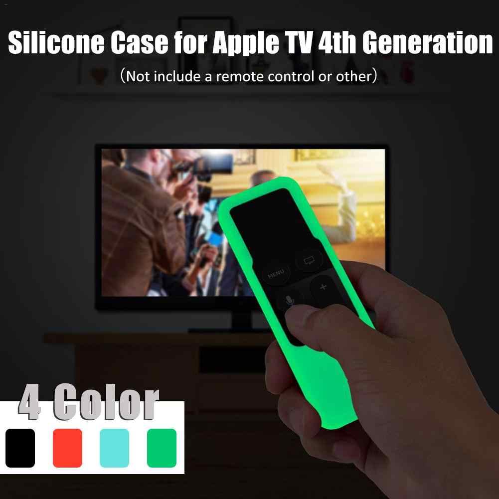 Etui ochronne dla Apple TV 4K 4th Gen Siri silikonowe do zdalnego sterowania Anti-scratch obudowa na pilota z długim rękawem