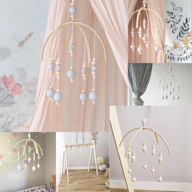 Geschickt Pudcoco Schöne Holz Windspiele Glocke Baby Mobile Spielzeug Attraktive Holz Perlen Frische Krippe Nordic Dekoration