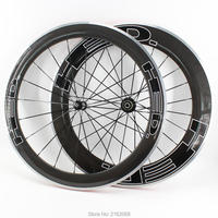 새로운 700c 전면 60mm 후면 80mm clincher rims 도로 자전거 광택 3 k 탄소 섬유 자전거 wheelset 합금 브레이크 표면 무료 배송