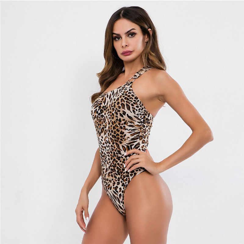 e1478152e334 ... Fashion Women Jumpsuit Bodycon Bodysuit Sexy Ladies Backless Leopard  Print Stretch Party Leotard Top Playsuit Rompers ...