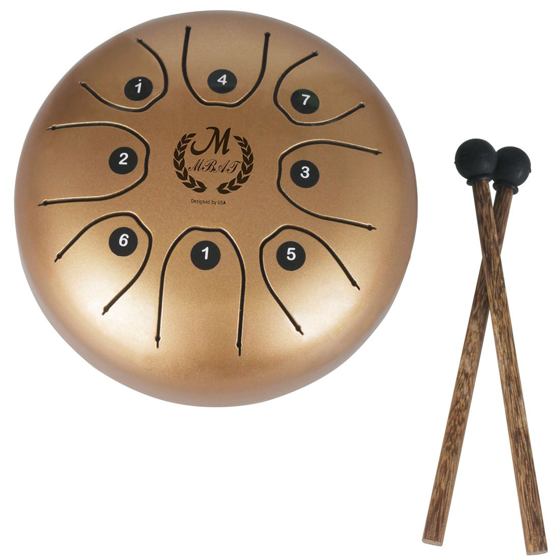 MMBAT 5 5 inch small size steel tongue drum with C D E F G A
