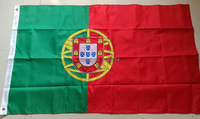 Double sided Embroidered Sewn Portugal Flag Portuguese National Flag World Country Banner Oxford Fabric 3x5ft, free shipping
