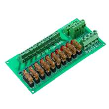 AC/DC 5 To 32V DIN Rail Mount 10 Position Power Distribution Fuse Holder Module Board