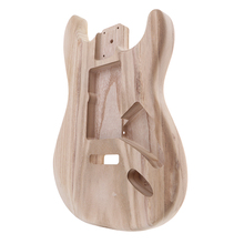 1 Pcs Handcrafted Sanding Electric Guitar Body Replacement Wood Unfinished Body for ST Guitar DIY Accessories Parts
