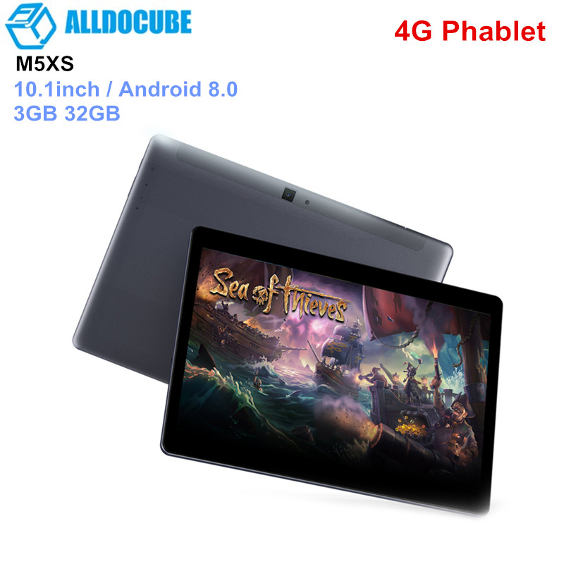 ALLDOCUBE M5XS 4G Phablet 10.1 pouces Android 8.0 tablettes PC MTK X27 (MT6797X) Deca Core 2.6 GHz 3 GB 32 GB tablettes 5MP 6600 mAh