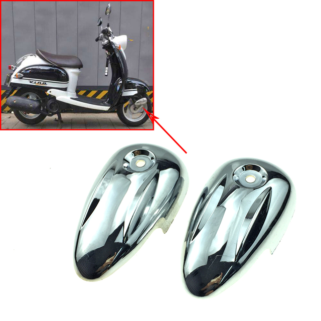 US $7 0  For YAMAHA VINO 50 VINO50 5AU 2 strokes Motorcycle Scooter Plating  Front fork cover Plastic-in Covers & Ornamental Mouldings from Automobiles