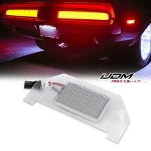 IJDM-lumière de plaque d'immatriculation pour OEM-remplacement 18-SMD LED12V 6000k, blanc, pour Dodge Charger, Challenger Chrysler 300 Dart etc.