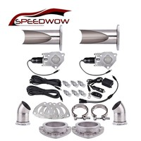 SPEEDWOW 3.0''  Exhaust Cut Out Headers Catback Remote Control Valve Electric Exhaust Cutout Be Cut Pipe Kit Car Accessories|Mufflers| |  -