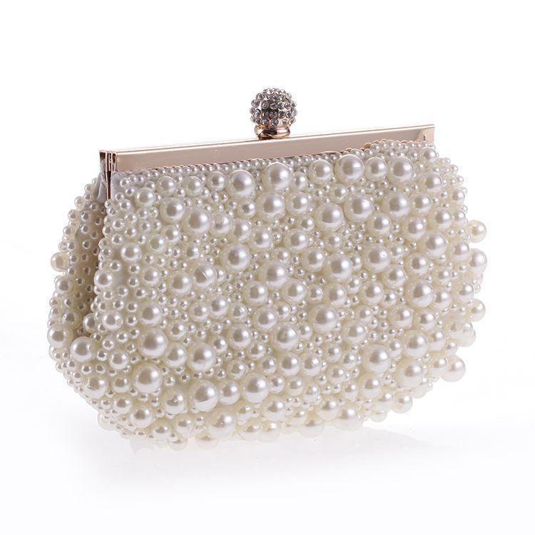 Kralen Luxe Handgemaakte Avondfeest Clutch Bag Vrouwen Parel Elegante Golden Lady Banket Tas Huwelijk Voor Bruid Blijf Je Altijd Fit