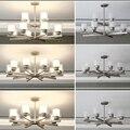 Скандинавский современный светодиодный железный подвесной светильник с кристаллами E27  подвесной светильник для спальни  гостиной  отеля  ...