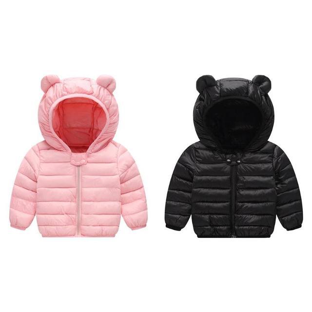 Light Children Bear Ear Winter Jacket Kids Boys Girls Down Hoodies Coat Cute Teenager parka kids winter jacket Outerwear