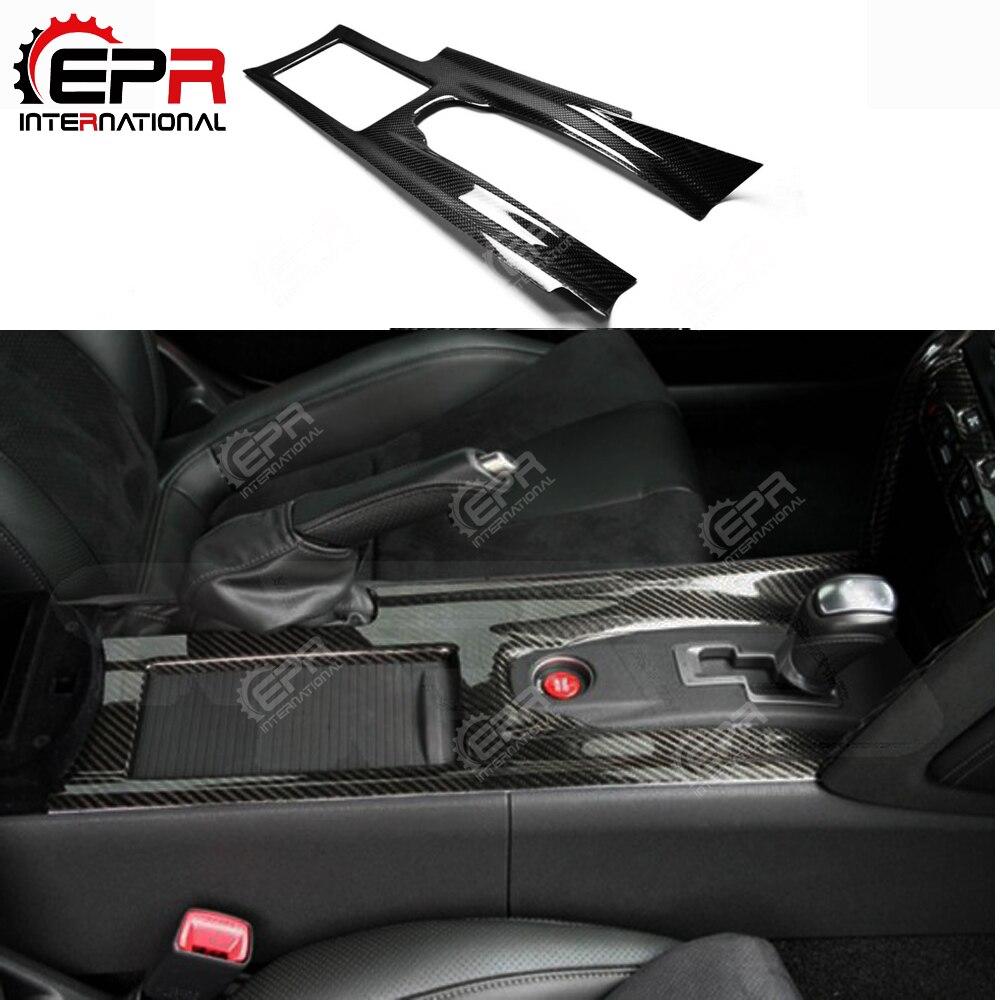 Para nissan r35 gtr centro de fibra carbono console capa lhd acessórios interiores do carro GT-R interior guarnição tuning kit corpo deriva parte