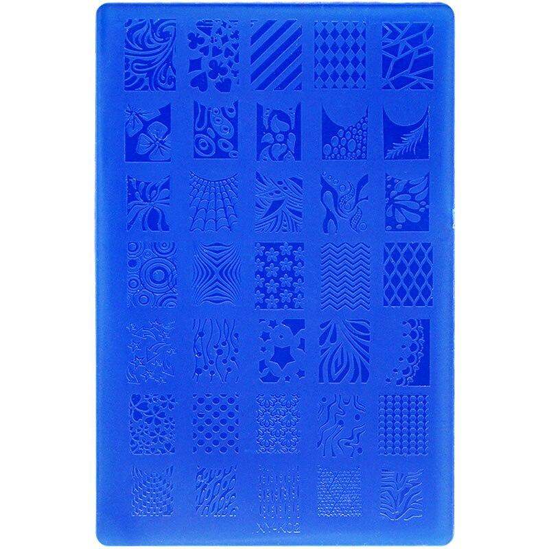 Kimcci 14,5*9,5 см пластины для стемпинга ногтей, кружево, цветок, животное, пластик, шаблоны для маникюра, трафареты, салонный инструмент для красо...