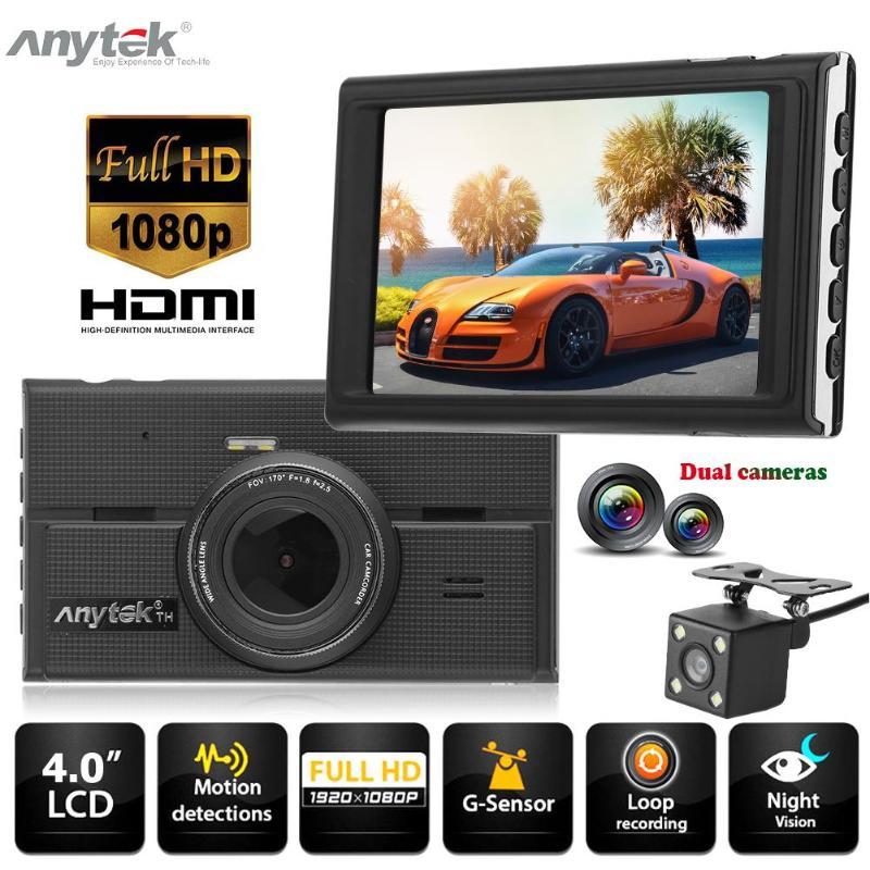 "Anytek G68 4"" Screen 1080P Full HD Dual Lens Car DVR Camera 170 Degree Wide Angle Video Recorder G-sensor Night Vision Dash Cam"
