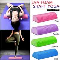 30-45cm Half Round EVA Massage Foam Roller Yoga Pilates Fitness Equipment Balance Pad Yoga Blocks With Massage Floating Point