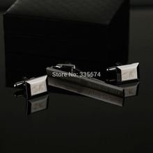 CT-020B Free Shipping Hot Silver Material Metal Cufflinks And Tie Clips Set Personalized Shirt Tie Perfect Fashion Male Gift Set все цены
