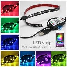 USB RGB 5050 Waterproof Led Strip Lights For TV Back Light LED Ribbon Tape Computer DC 5V Backlight