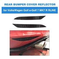 For Volkswagen VW Golf MK7 7.5 Base GTI R Rline 2014 2018 2PCS ABS Rear Bumper Reflector Lamps Rear Light Reflective Strips