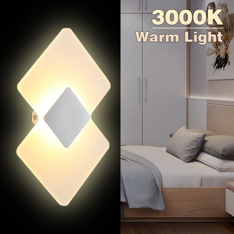 Applique murale moderne LED Up Down Cube intérieur extérieur applique éclairage lampe 6 W chaud 3000 K haut et bas intérieur lampe en plâtre pour chambre