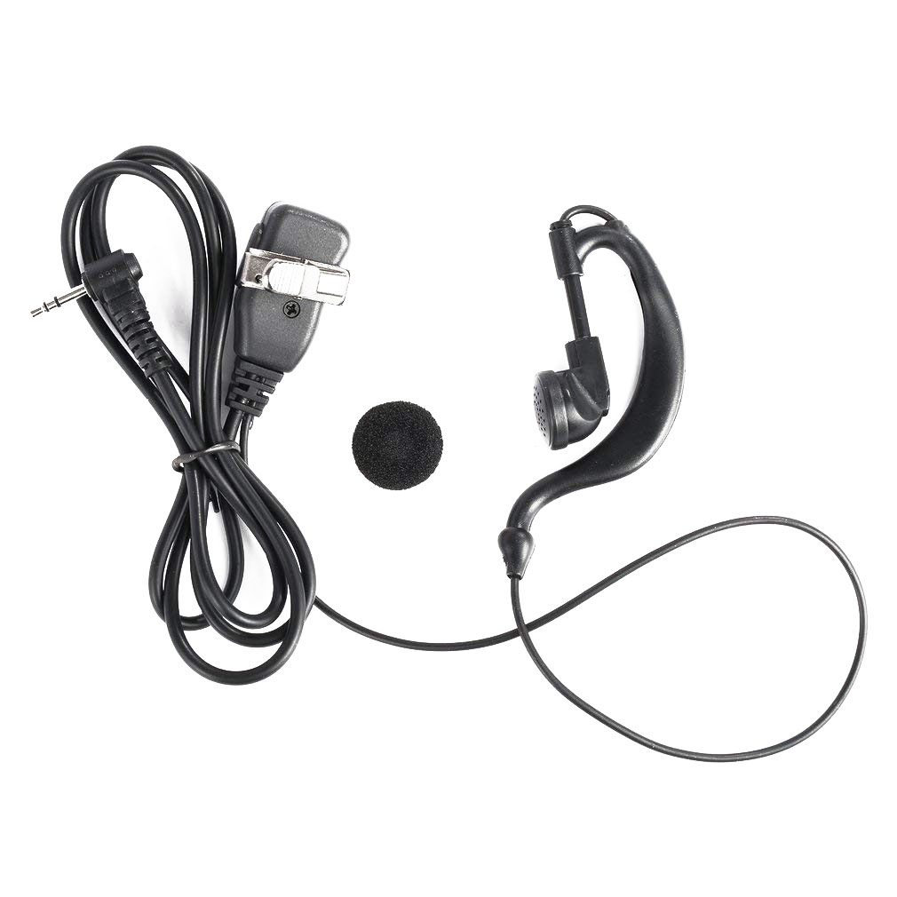 Portable Clip Earhook Earpiece for Motorola Radio Walkie Talkie T80 T80EX G Shape Soft Ham Radio Earphone with Mic Headset