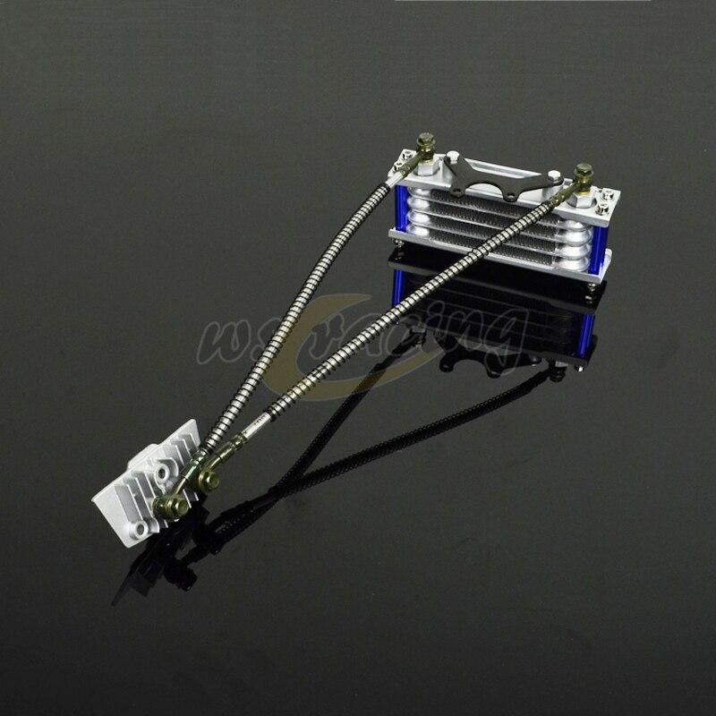 Радиатор для мотоциклетного масляного охлаждения, радиатор для питбайка, мотоцикла, квадроцикла 50 70 90 110CC Pitpro Pitster Pro SDG DHZ SSR Piranha