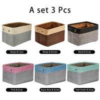Japanese cotton linen storage basket Foldable clothing toy storage bucket Organizer household Underwear Sundries Laundry Basket