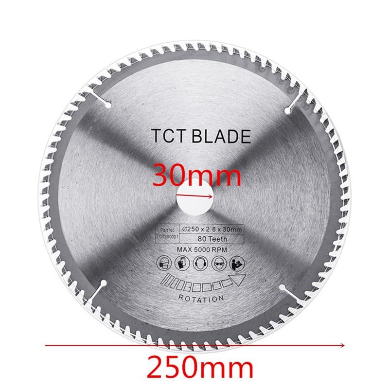 Multi-functional Circular Saw Blade Wood Aluminium 250x2.8x30x80T TCT Hard Alloy Saw Blade For Cutting Steel Aluminum Iron Wood