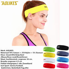 AOLIKES women Yoga Hair Bands Head Sweat Bands Sports Safety 1PCS High Quality Cotton Sweat Headband For Men Sweatband(China)