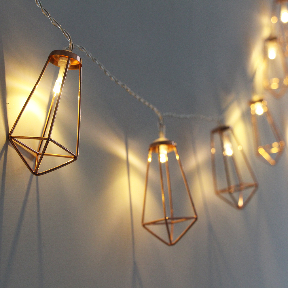 10/20 Diamond Led String Lights For Christmas New Year Party Wedding Home Decoration Fairy Lights Battery Operated
