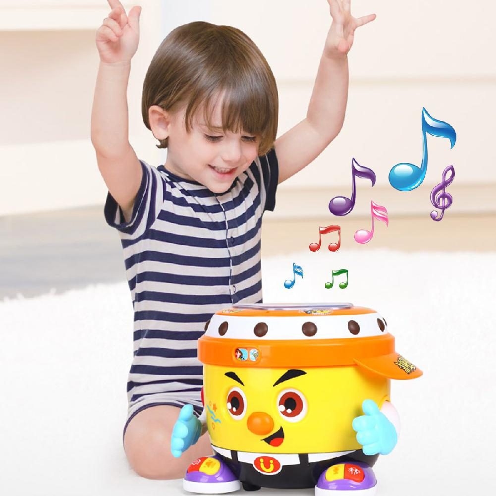 Bébé jouet électrique multifonction DJ fête Pat tambour avec lumière et musique main tambour Puzzle jouets pour enfants jouet de loisirs
