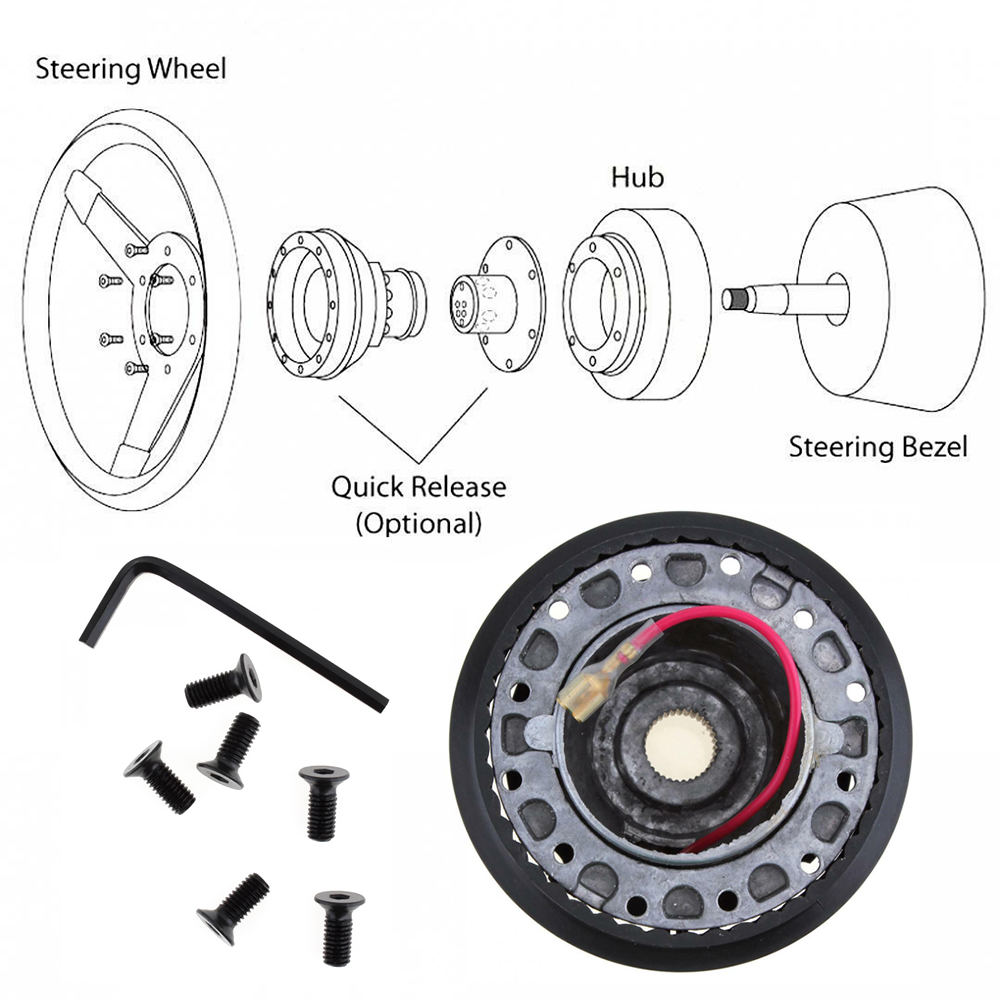 Copertura del Volante dell'automobile di Alluminio Boss Kit Da Corsa Hub Adapter per TOYOTA Auto Steering Wheel Hub Adapter