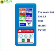 English menu Gas Analyzer Formaldehyde CO2 Dioxide PM1.0 PM2.5 PM10 HCHO TVOC  Detector Particles Monitor Air Quality Analyzer цена 2017