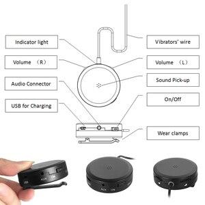 Image 5 - 骨伝導ヘッドセット補聴器ヘッドフォン骨伝導式サウンドイヤホンピックアップaux in用の聴覚困難