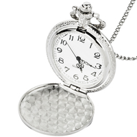 Intended Use Retro Silver Motorcycle Motorbike Pocket Watch Pendant Necklace Men Women Chain Clock Gifts