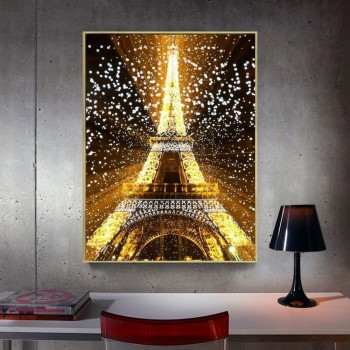 HUACAN 5D Diamond Painting Full Square Eiffel Tower Rhinestone Picture Embroidery Sale Diamond Mosaic Cross