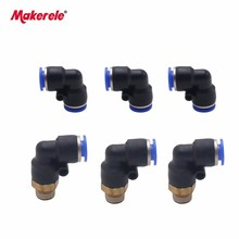 All pneumatic fitting PB,PC,PE,PL,PV,PY,SL series three-way external thread throttle valve adjustment  free shipping