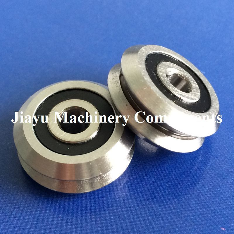 Free Shipping 10 PCS RM2 2RS Track Roller Bearings 3 8 inch RM2 RS V Groove