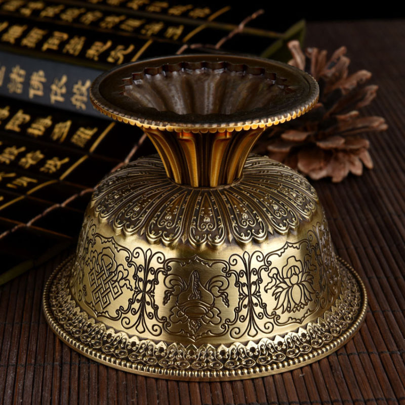 Tibetan Engraved Offering Bowl 3